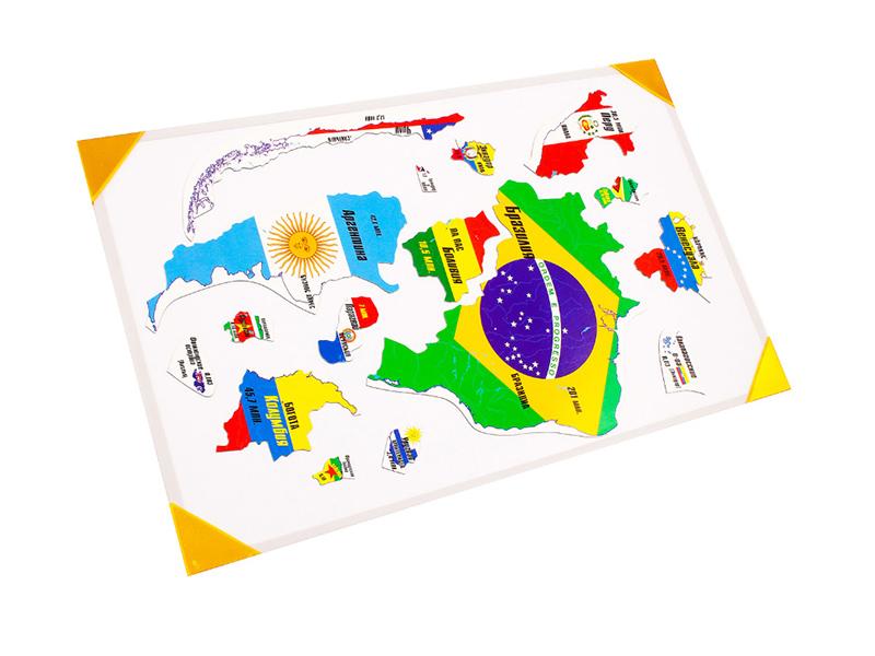 Пазл Геомагнит Южная Америка на доске 32х51cm 1037