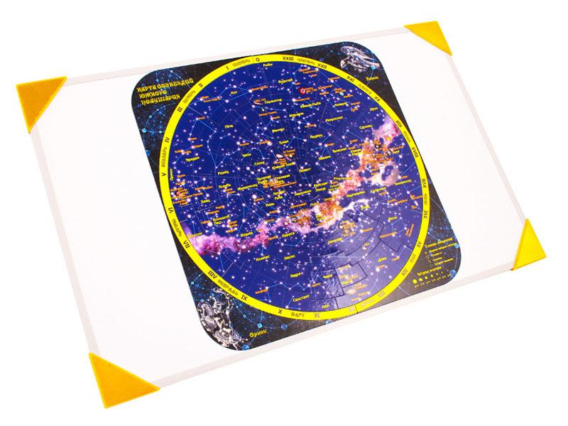 Пазл Геомагнит Карта созвездий южного полушария на доске 32х51cm 1041