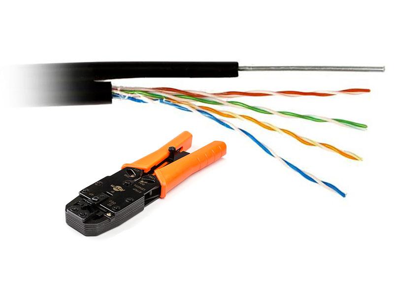Сетевой кабель ATcom UTP cat.5e CCA 305m АТ10700 (2шт) + Клещи обжимные 2008R (RJ45, RJ11) AT3787