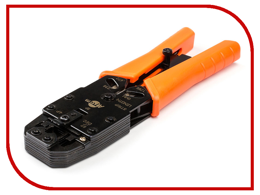 Клещи обжимные ATcom 2008R (RJ45, RJ11) AT3787 rj11 rj45 network and telephone cable crimping tool with cable stripper