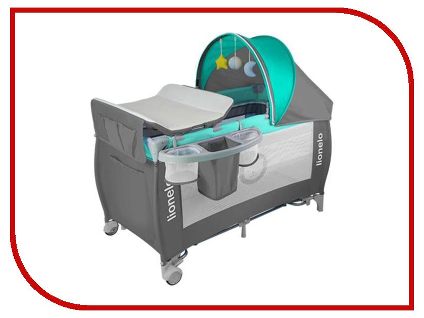 Манеж-кровать Lionelo Sven Plus Turquoise LOSventurq стульчики для кормления lionelo linn plus