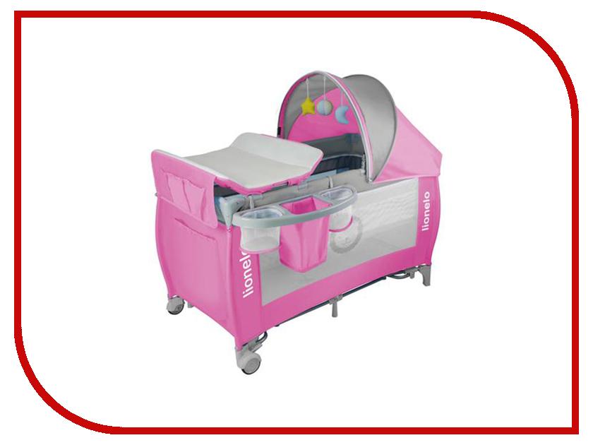 Манеж-кровать Lionelo Sven Plus Pink LOSvenpink стульчики для кормления lionelo linn plus