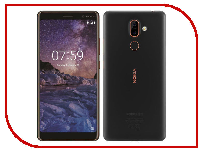 Сотовый телефон Nokia 7 Plus Black-Copper смартфон nokia 7 plus черный