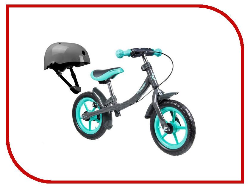 Беговел Lionelo Dan Plus Turquoise + Шлем LODANTurq стульчики для кормления lionelo linn plus