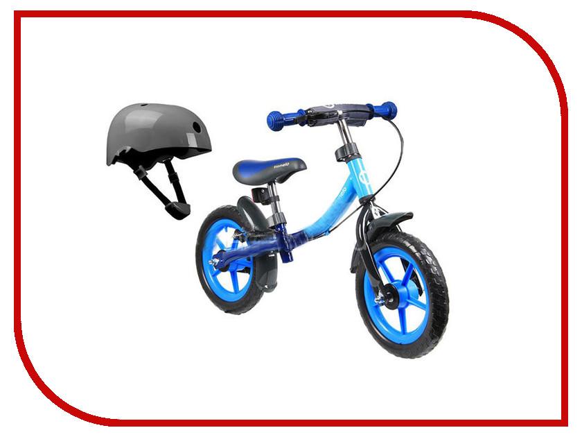 Беговел Lionelo Dan Plus Blue + шлем LODANBlue стульчики для кормления lionelo linn plus