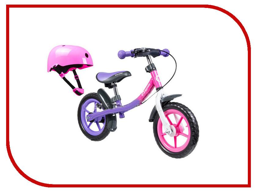 Беговел Lionelo Dan Plus Pink + шлем LODANPink стульчики для кормления lionelo linn plus