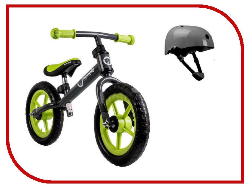 Беговел Lionelo Fin Plus Green + шлем LOFINGreen стульчики для кормления lionelo linn plus