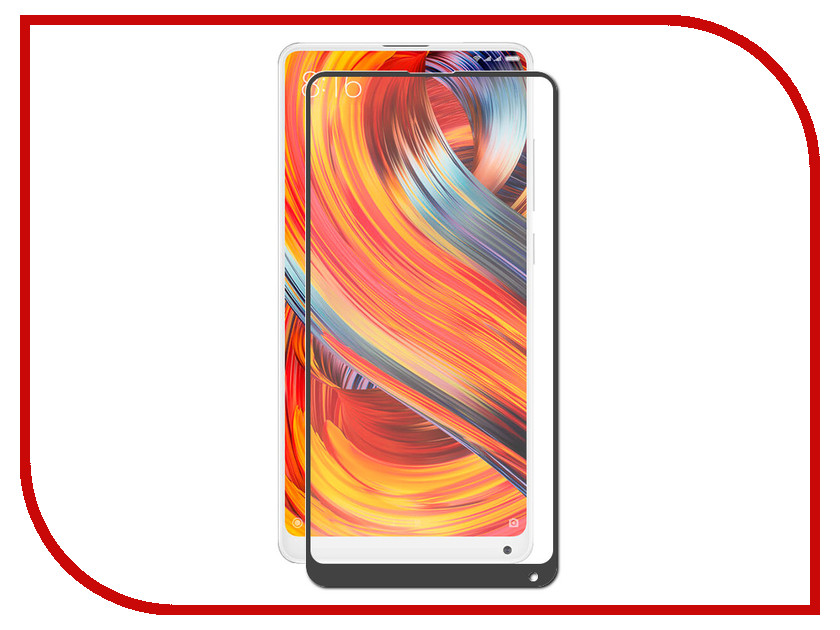 Аксессуар Защитное стекло для Xiaomi Mi Mix 2s Red Line Full Screen Tempered Glass Black УТ000015451 for lenovo zuk z2 lcd screen display with touch screen digitizer panel glass assembly black white replacement parts free shipping