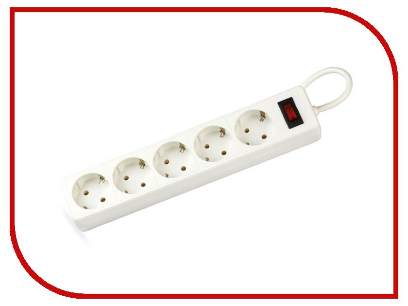Сетевой фильтр SmartBuy One 5 Sockets 5m White SBSP-50-W сетевой фильтр most rg 6 sockets 5m white 587278
