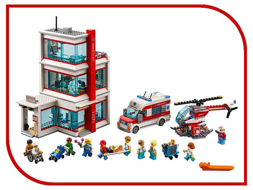 Конструктор Lego City Городская больница 60204 конструктор city lego lego mp002xb00857