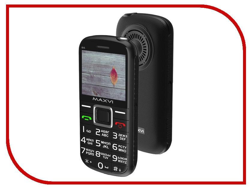 Сотовый телефон Maxvi B5 Black сотовый телефон elari cardphone black