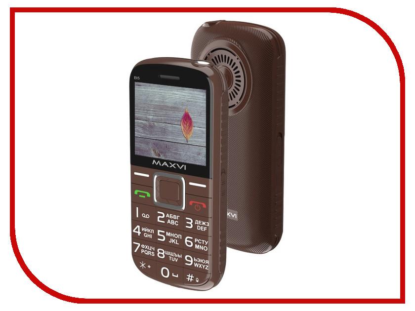 Сотовый телефон Maxvi B5 Brown телефон