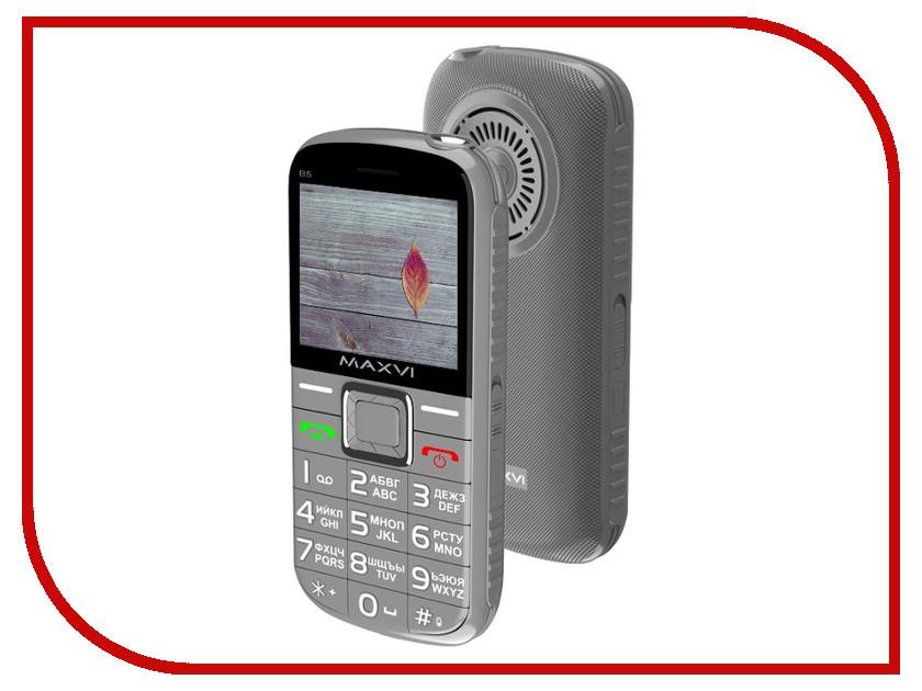 Сотовый телефон Maxvi B5 Grey смартфон oukitel k6000 plus grey 8 core 1 5ghz 4gb 64gb 5 5 1920 1080 16mp 8mp 2sim 3g 4g bt wifi gps android