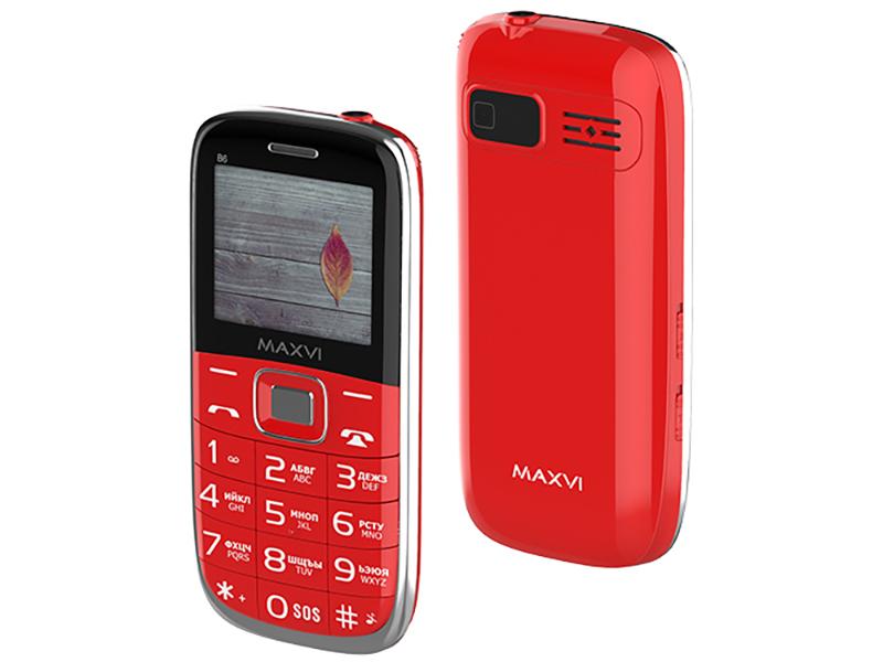 цена на Сотовый телефон MAXVI B6 Red