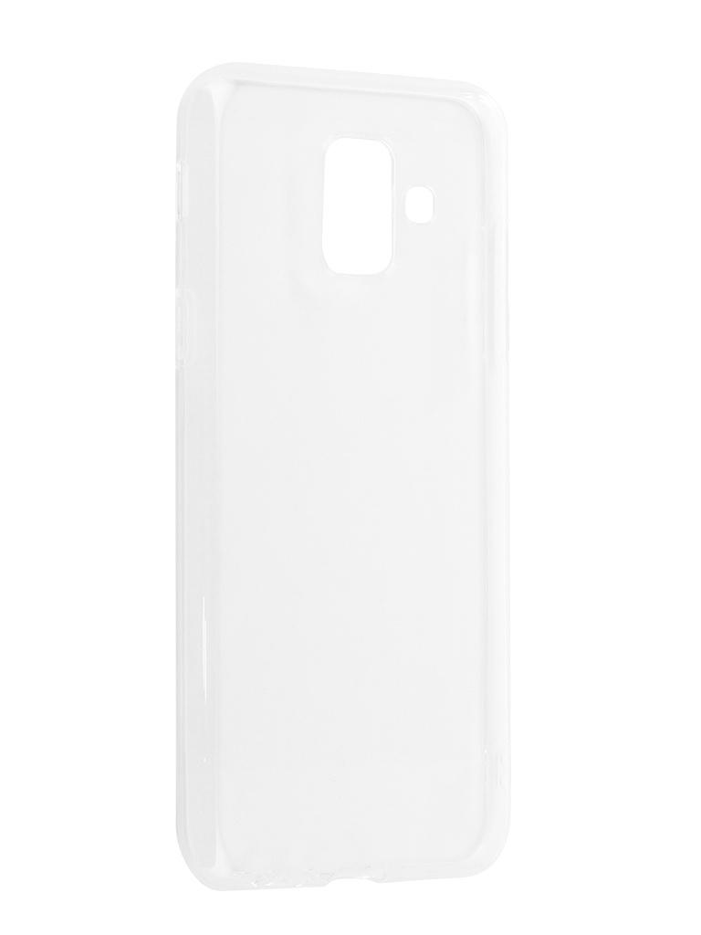 Аксессуар Чехол для Samsung Galaxy A6 2018 A600F Svekla Silicone Transparent SV-SGA600F-WH аксессуар чехол для samsung galaxy j7 j730 2017 gecko transparent glossy white s g sgj7 2017 wh