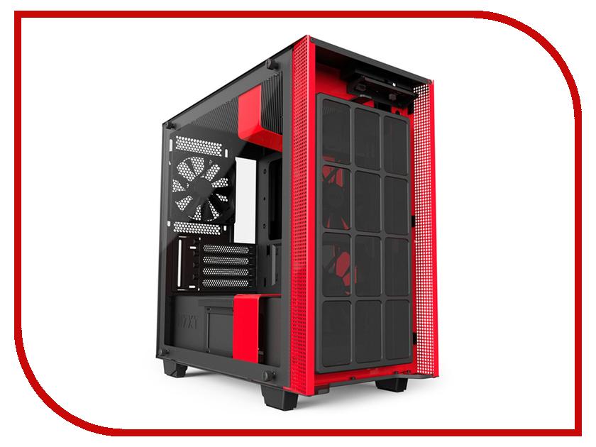 Корпус NZXT H400I Black-Red CA-H400W-BR корпус для компьютера nzxt ca phatm o2 черный оранжевый