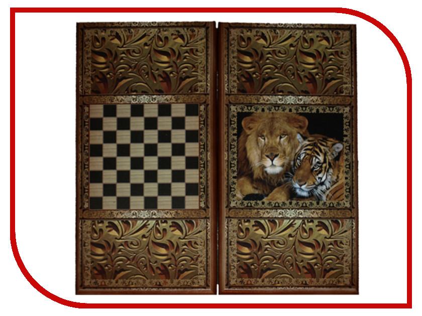 Игра Карты М Нарды-шашки Лев и Тигр 7040/16 lamaze музыкальная игра лев логан звук мелодия lamaze