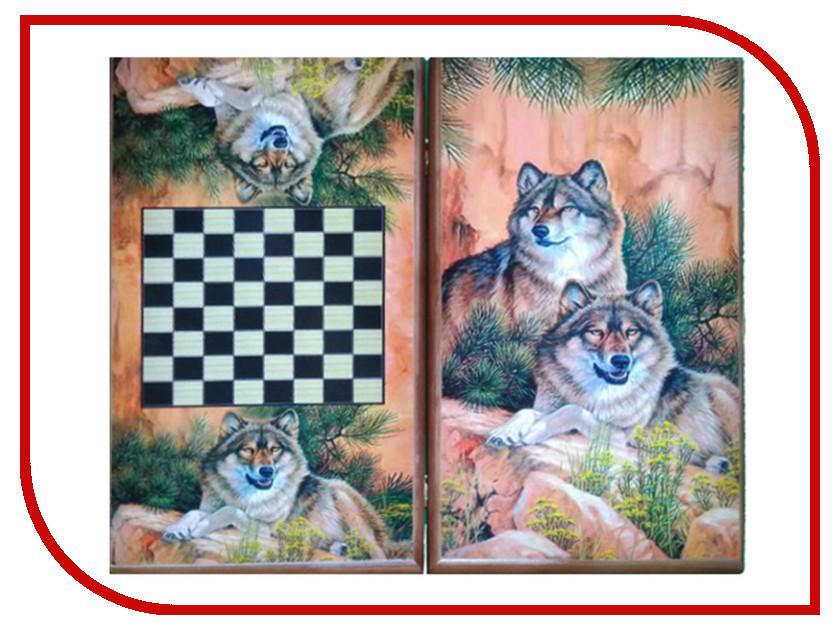 цена на Игра Карты М Нарды-шашки Волки 7040/22