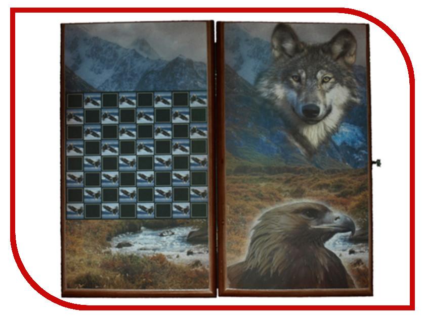 цена Игра Карты М Нарды-шашки Волк и Орел 7050/18