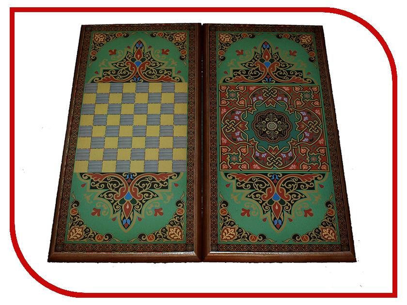 Игра Карты М Нарды-шашки Зеленый узор 7060/14 обучение карты