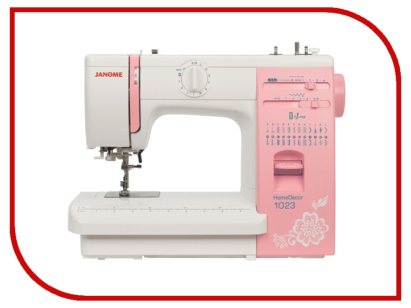 Швейная машинка Janome HomeDecor 1023 швейная машинка janome lady 725 белый