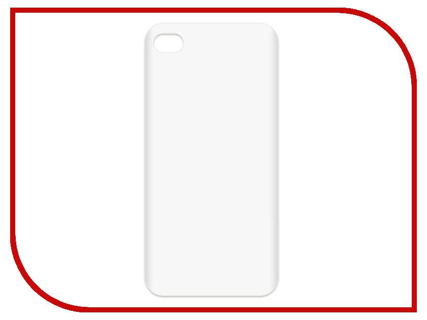 Аксессуар Чехол-накладка Krutoff TPU для APPLE iPhone 4/4S Transparent 11938 чехол накладка чехол накладка iphone 6 6s 4 7 lims sgp spigen стиль 1 580075