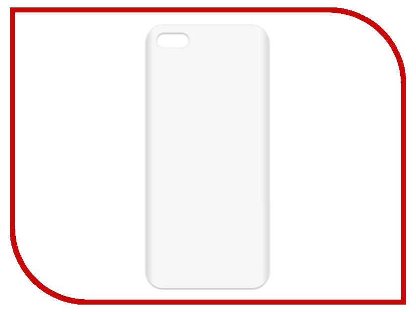 Аксессуар Чехол-накладка Krutoff TPU для APPLE iPhone 5/5S Transparent 11939 аксессуар чехол krutoff для apple iphone 5 5s white 10759