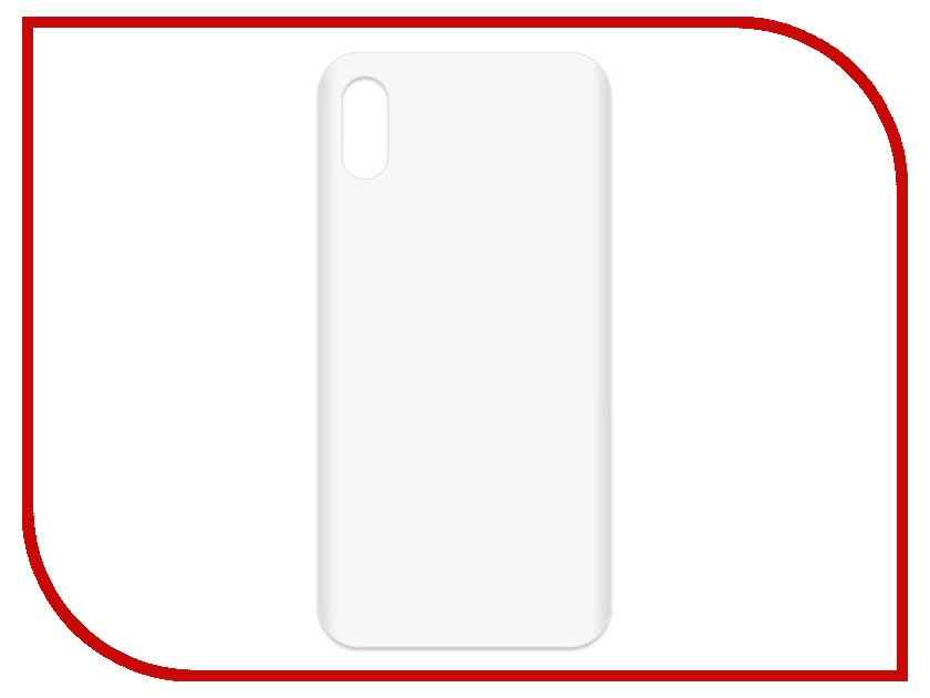 Аксессуар Чехол-накладка Krutoff TPU для APPLE iPhone X Transparent 11944