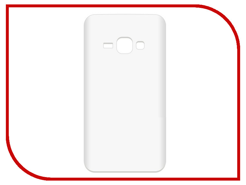 Аксессуар Чехол-накладка для Samsung Galaxy J1 2016 SM-J120F Krutoff TPU Transparent 11950 чехол для samsung galaxy j1 2016 sm j120f ds flip wallet белый