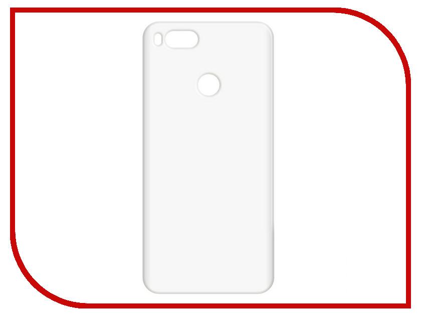 Аксессуар Чехол-накладка для Xiaomi Mi A1 Krutoff TPU Transparent 11968 аксессуар чехол накладка для samsung galaxy s8 sm g950f krutoff tpu transparent 11963