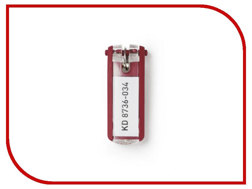 Брелок Durable Key Clip с инфо-окном Набор 6шт Red 195703