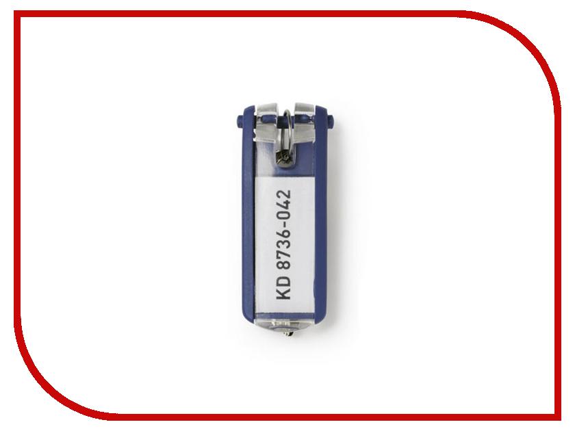 Брелок Durable Key Clip с инфо-окном Набор 6шт Blue 195707