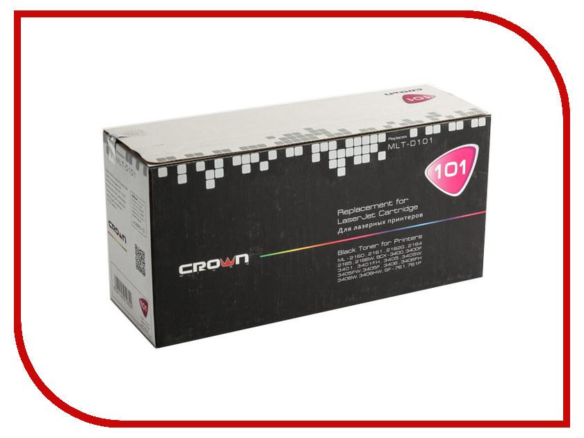 Картридж Crown CM-MLT-D101S для Samsung ML2160/2161/2162G/2164/2165/2166W/SCX3400/3400F/3401/3401FH/3405/3405W/3405FW/3405F/3406/3406FH/3406W/3406HW/SF761/761P