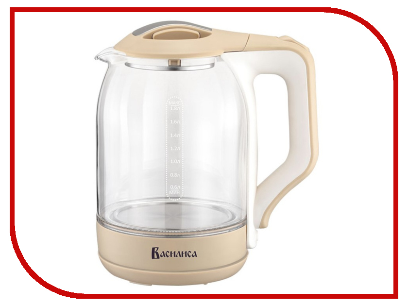 Чайник Василиса ВА-1027 Beige-White кухонные весы василиса ва 004