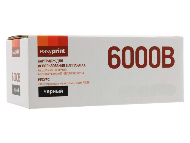 цена на Картридж EasyPrint LX-6000B Black для Xerox Phaser 6000/6010N/WorkCentre 6015