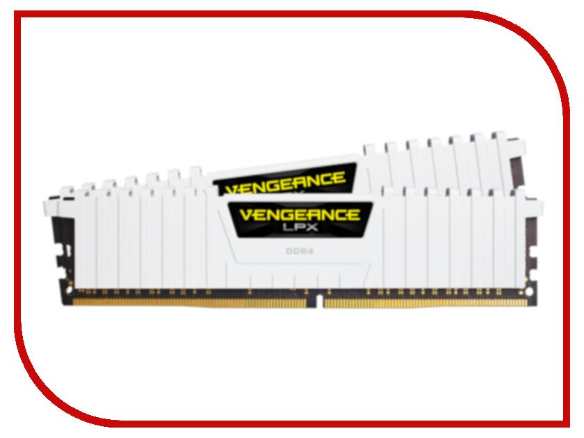 Модуль памяти Corsair Vengeance LPX White DDR4 DIMM 2666MHz PC4-21300 CL16 - 32Gb KIT (2x16Gb) CMK32GX4M2A2666C16W модуль памяти corsair vengeance lpx cmk16gx4m2c3000c16 ddr4 2x 8гб 3000 dimm ret