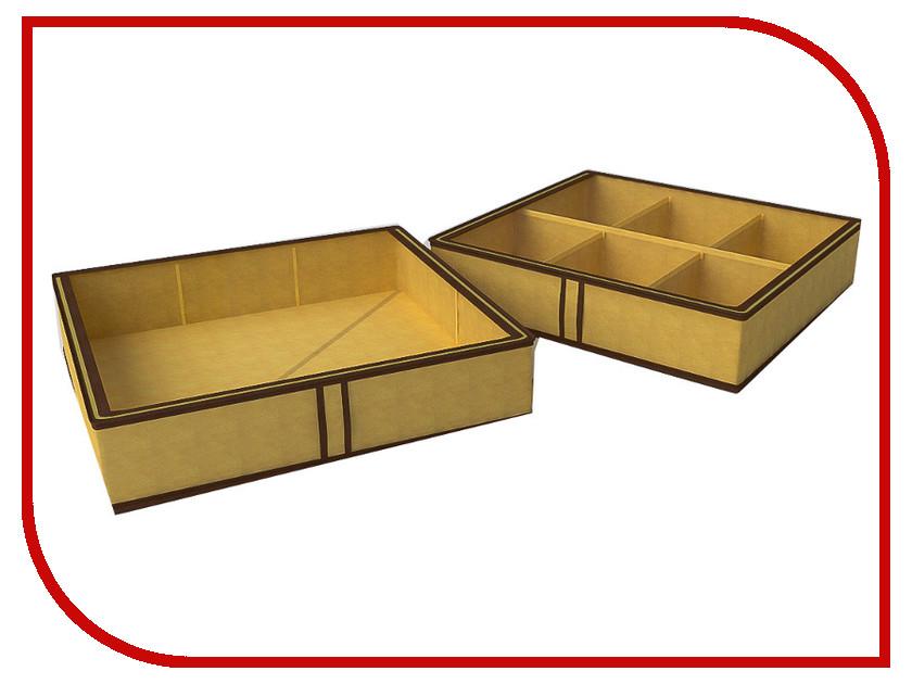 Аксессуар Короб для обуви Cofret 56x52x12cm 6 ячеек 1437 откидной короб 9 ячеек красный прозрачный стелла fox 101