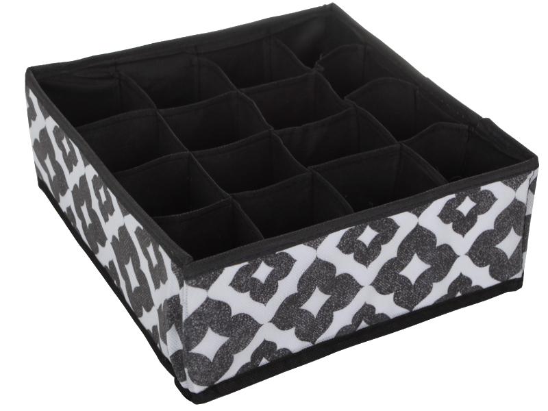 Органайзер для белья Доляна Вензель 27x25x10cm Black-White