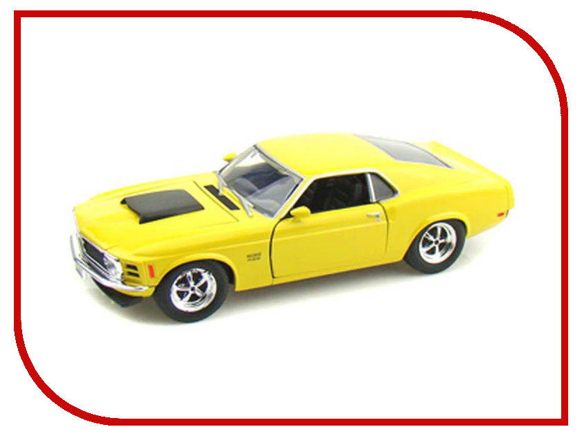 Игрушка Motormax Ford Mustang Boss 429 1970 73200AC 2011 ford mustang boss 302 red 1 24 by maisto 31269