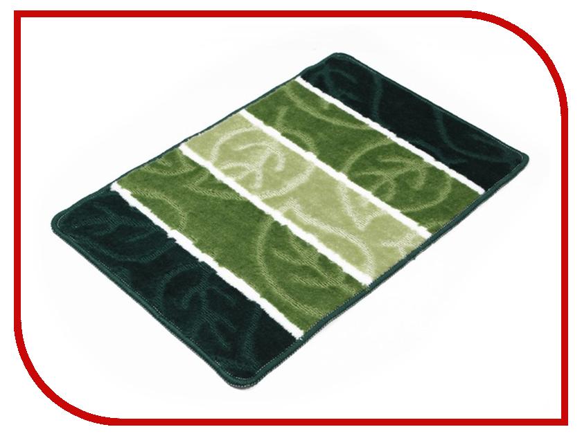 Коврик Доляна Листья 40х60cm Green 2857356 доляна теплая ночь