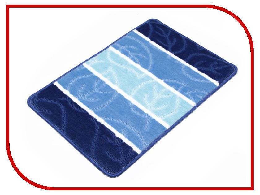 Коврик Доляна Листья 40х60cm Blue 2857358 доляна теплая ночь