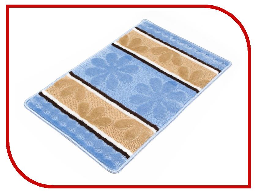 Коврик Доляна Цветы 40х60cm Blue 2857354
