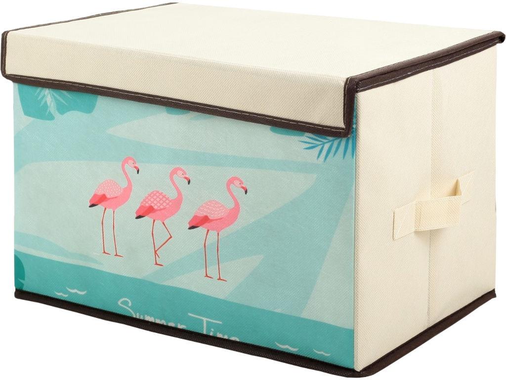 Аксессуар Короб для хранения СИМА-ЛЕНД Фламинго 39x25x25cm 3121654 аксессуар обложка сима ленд ой все 1116035