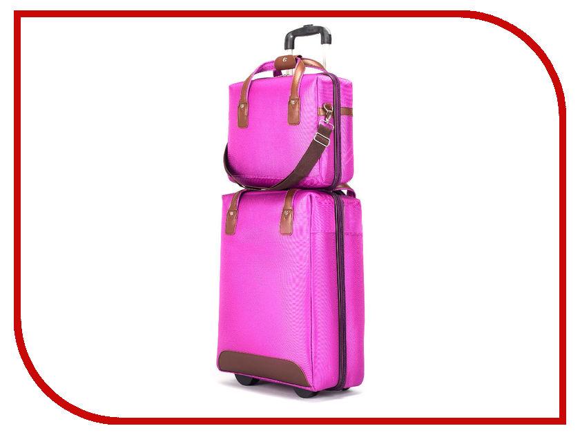 Чемодан СИМА-ЛЕНД Стиль с сумкой Violet 2826160