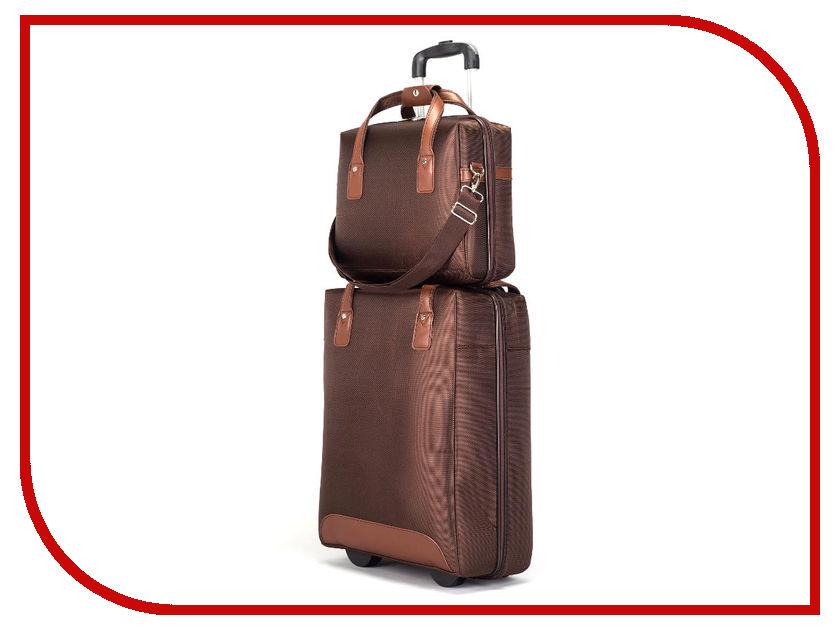 Чемодан СИМА-ЛЕНД Стиль с сумкой Brown 2826157