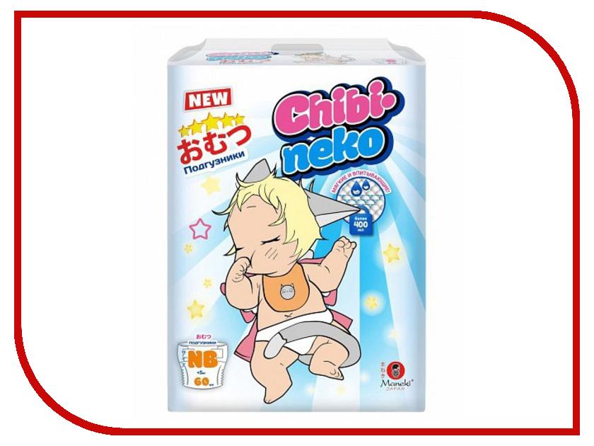 Подгузники Maneki Chibi-Neko NB 5kg 60шт BD1897
