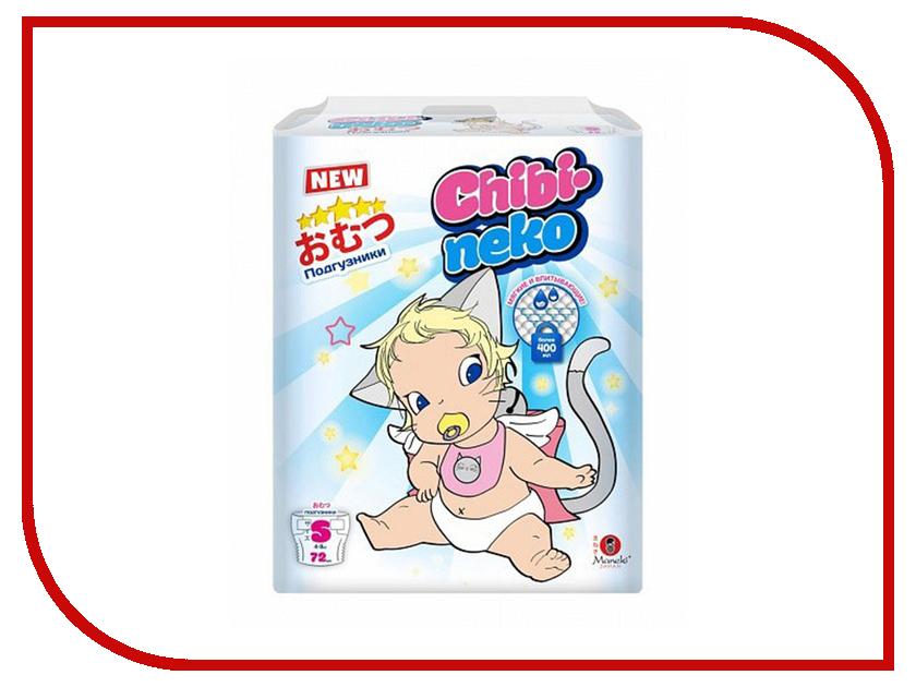 все цены на Подгузники Maneki Chibi-Neko S 4-8kg 72шт BD1903