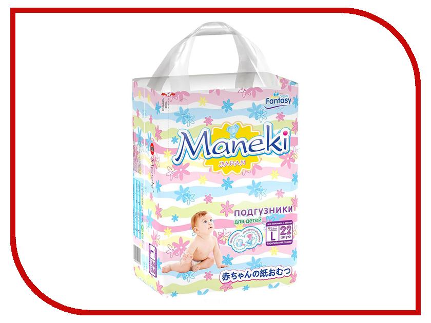 Подгузники Maneki Fantasy Мини L 9-14kg 22шт BD1217