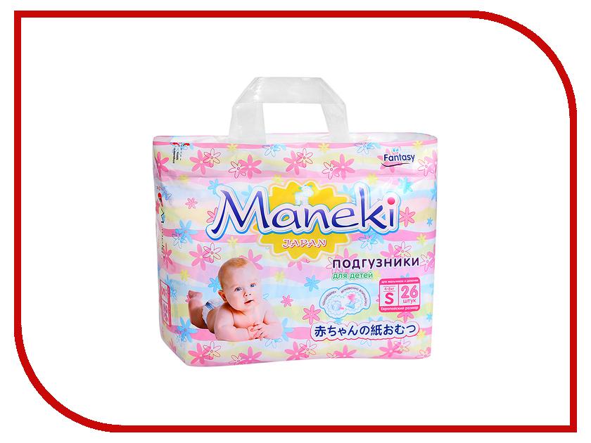 Подгузники Maneki Fantasy Мини S 4-8kg 26шт BD1231