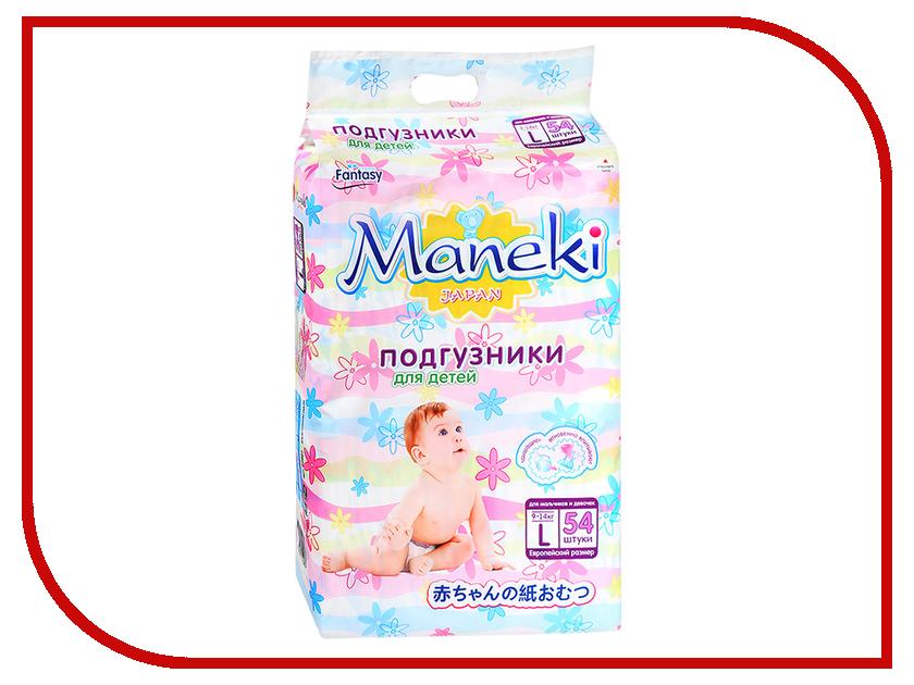 Подгузники Maneki Fantasy L 9-14kg 54шт BD807
